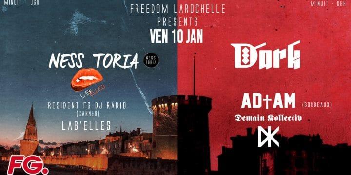 VENDREDI 10 JANVIER 2020, NESS TORIA (Lab'Elles) @ FREEDOM Club (La Rochelle)!